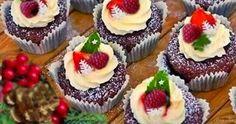 Gosia gotuje: Babeczki czekoladowo-piernikowe z bitą śmietaną i ...