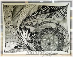 My First Ever Zentangle Attempt! by istamp31 - Cards and Paper Crafts at Splitcoaststampers