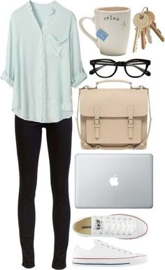 The Nerdy Look   Cute College Outfit ideas To Match Your Natural Makeup