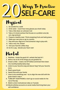 20 Ways To Practice Self-Care - Joanna Rahier.Self Care – Soul Nourishing Af. - 20 Ways To Practice Self-Care – Joanna Rahier…Self Care – Soul Nourishing Affirmations, Route - 15 Minute Workout, Self Care Activities, Wellness Activities, Stress Management Activities, Stress Management Techniques, Self Improvement Tips, Self Care Routine, Self Development, Personal Development