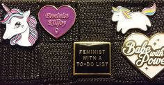 My feminist killjoy pin is certainly in good company!  (makers tagged in photo) #feminist #feminists #feminism #pins #buttons #lgbt #pinstagram #feministmerch #feministaccessory #feministart #feministasfuck #feministpride #feministaccount #accessories #socialjustice #intersectional #stickers #feministmovement #feministkilljoy #berniesanders #bernieforpresident #love #instagood #cute #followme #photooftheday #happy #tagsforlikes #beautiful #girl by radicalbuttons