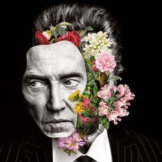Les Collages colorés de Visages fleuris de Marcelo Monreal (11)
