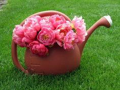Use unusual items for your cut flowers.