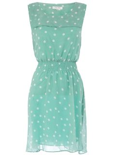 Polka Dot Pastel Dress for those more adventurous... via Dorothy Perkins.