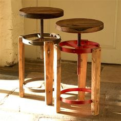 The Marseille Stool is made from reclaimed timber. It is height-adjustable; a bit like the stools you find in photo booths – but a hundred times more stylish!