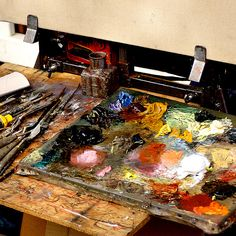 An artist's paint board is his/her personal masterpiece.