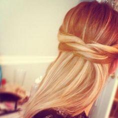 peinado casual y sencillo