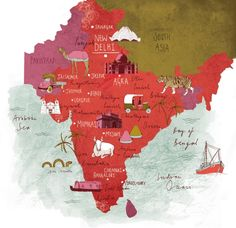 Map of India - Tonwen Jones