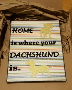 Cute DIY Dachshund Home Decor. Silhouette portrait used to cut vinyl