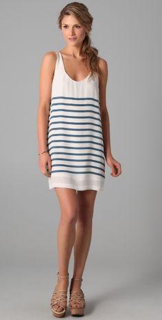 stripe tank dress super cute