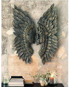 1. Greywash Gilt Metal Angel Wings : £175
