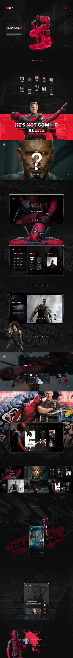Deadpool 2- mini website on Behance