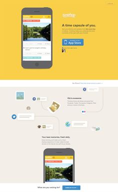 Example of mobile app website design: Timehop