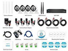 Wireless Video Security Bullet Camera System Waterproof Outdoor Indoor WiFi IP #Reolink