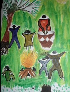 African artwork done by teenagers - expression! I'm diggin' it