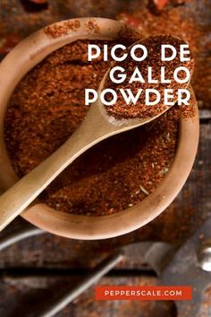 Pico de gallo powder is a quick way to add a salty fire to your favorite salsa, whether that be a tomato-based pico de gallo or your favorite tropical fruit salsa.