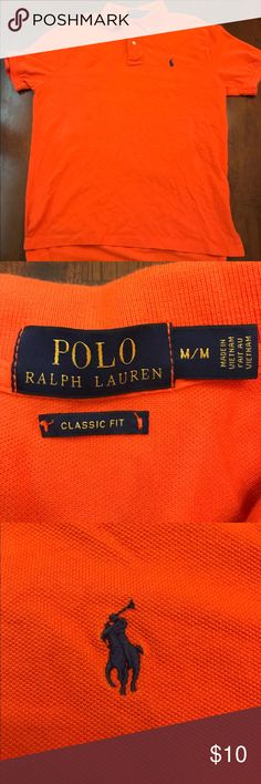 Polo by Ralph Lauren Classic fit. There is a stain on the front (picture 4) also some dirt on the sleeve (picture 5) Polo by Ralph Lauren Shirts Polos