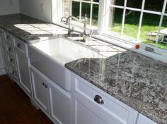 azul aran granite - white cabinets   Kitchen remodel ...
