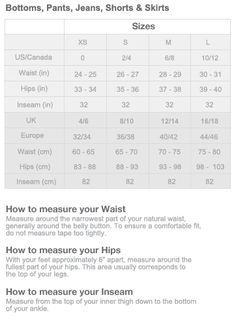 Clothing sizes and measurements for women size chart is