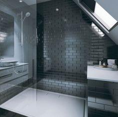 Tilepanel Brick Effect Laminate Black Bathroom Wall Board Panels Paneling