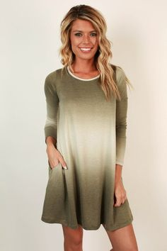 Off To The Alps Ombre Shift Dress
