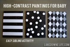 Lansdowne Life: Stimulating high contrast paintings for baby