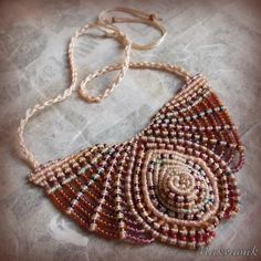 http://olandhandmade.pl/ #polandhandmade, #makrama, #makramik, #micro-macrame, #necklace, #macrame