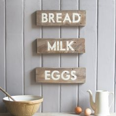 Custom Rustic Grocers Signs . Set Of 3. £35.00, via Etsy.