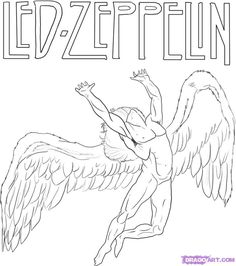 Hello once again and welcome to this tutorial on how to draw Led Zeppelin Swan Song record label. As all of you may not know, the bands that I draw sy Led Zeppelin Tattoo, Arte Led Zeppelin, Led Zeppelin Angel, Led Zeppelin Album Covers, Led Zeppelin Logo, Icarus Tattoo, Rennaissance Art, Name Drawings, Rolling Stones Logo