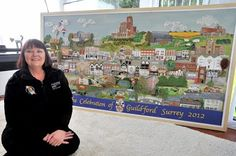 N e e d l e p r i n t: The Stitching Mayoress & Guildford Town Tapestry on Display at G-Live, Guildford
