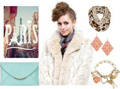 """fashion white faux fur leopard grain woman coat"" by messcafur on Polyvore"