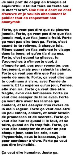Un beau texte sur le fait d'être forte... #femme #forte #courage Mots Forts, Pretty Quotes, French Quotes, Bad Mood, Life Lessons, Wise Words, Decir No, Quotations, Affirmations