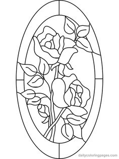 Free Coloring Pages For Adults | stained glass flower coloring pages 06