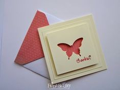 Mini Butterfly Thank You Cards - Fiona Bradley - Just Spiffing - Stampin Up - Elegant Butterfly punch
