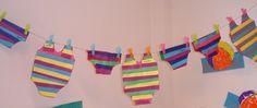 Badpakken en zwembroeken maken en uithangen in de klas! Zomergevoel!