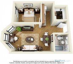 West Elm Apartments - Chicago Apartments For Rent Sims House Plans, House Layout Plans, House Layouts, House Floor Plans, Small Apartment Layout, Apartment Design, Small Apartments, Studio Floor Plans, Sims House Design