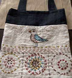 Bag with a Bird / Taška s ptáčkem by Handy hands´ corner / Výrobky dovedných rukou, via Flickr