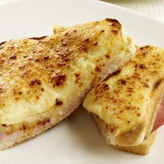 Croque Monsieur, I had these in France, they're very tasty.