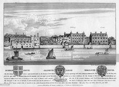 Durham House, Salisbury House, and Worcester House, London, . Salisbury House, Fleet Street, London History, London Pictures, London House, Old London, Worcester, Durham, Vintage World Maps
