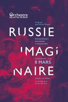 Affiche typographie la russie imaginaire - typography poster  http://www.grapheine.com/divers/russie-imaginaire-en-affiche