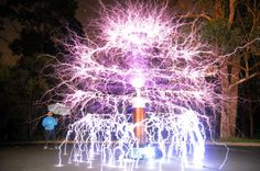 Australian Hobbyist Turns 500,000 Volts Of Electricity Into The Tesla Coil Christmas Tree. it looks really cool, but wouldn't it be super dangerous?