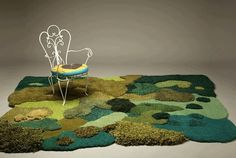 Artist Makes Nature-Inspired Rugs From Carpet Scraps | Mental Floss