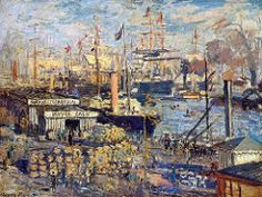 1874 Claude Monet The Grand Quai at Le Havre(Hermitage)(61 x 81 cm)