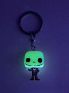 86a948e2b5 Funko The Nightmare Before Christmas Pocket Pop! Jack Skellington Key Chain  Glow-In-The-Dark Hot Topic Exclusive