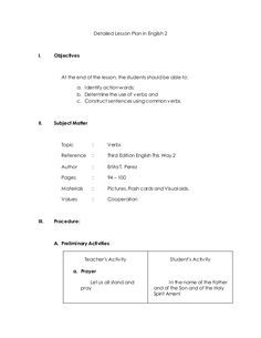 Detailed Lesson Plan in English 2 I. Objectives At the end of the lesson, the students should be able to: a. Reading Lesson Plans, Science Lesson Plans, Teacher Lesson Plans, Reading Lessons, Science Lessons, English Lesson Plans, English Lessons, Learn English, Grade 1 Lesson Plan