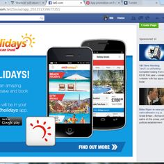 Jet2 have a sub-page advertising their app on their Facebook page.  https://www.facebook.com/Jet2Social/app_203351739677351