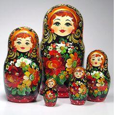 Matryoshka (Russian Nesting Dolls) Card