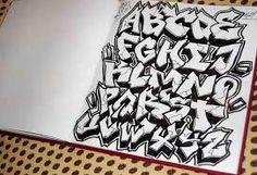 Resultado de imagen para graffiti letras abecedario wild style