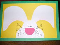 This 3-dimensional Easter card will bring a smile to anyone's face. It's a great way to wish someone special a very Happy Easter!