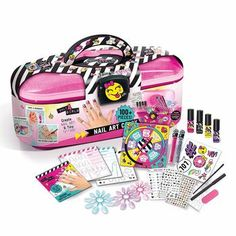 Nail Art Caddy Only 4 Girls Storage Nail Polis Stickers Glitter Body Marker Tattoo Instructions >>> Read more at the image link. (This is an affiliate link) Art Caddy, Water Based Nail Polish, Cute Tiny Tattoos, Stick On Nails, Girls Nails, All I Ever Wanted, Birthday Gifts For Girls, Toys Shop, Girls Jewelry